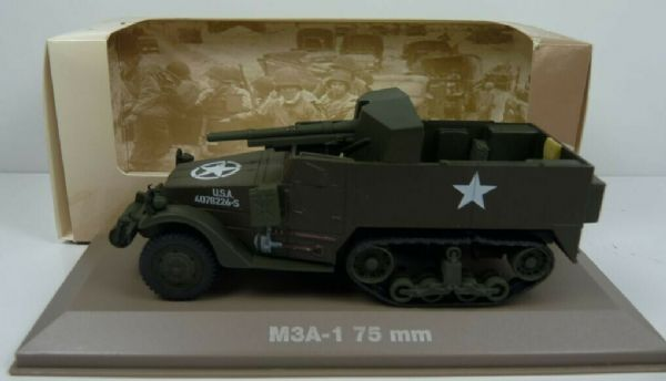 Atlas KP33 1/43 Scale US American Army Self Propelled Gun USA M3A-1 75mm Tank
